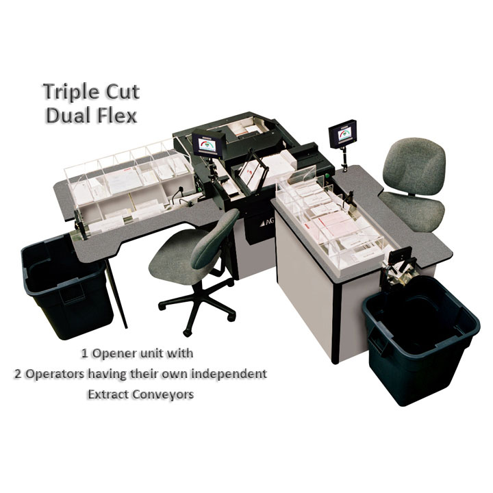 Single Operator Triple Cut Envelope Opener and Extractor